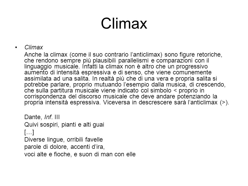 Climax Climax.