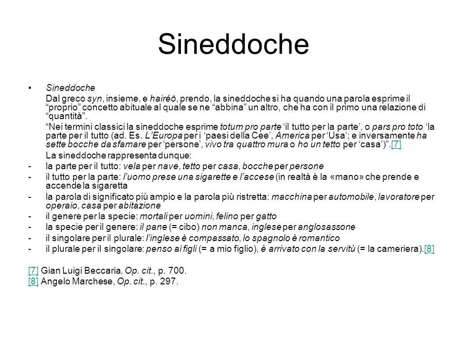 Sineddoche Sineddoche