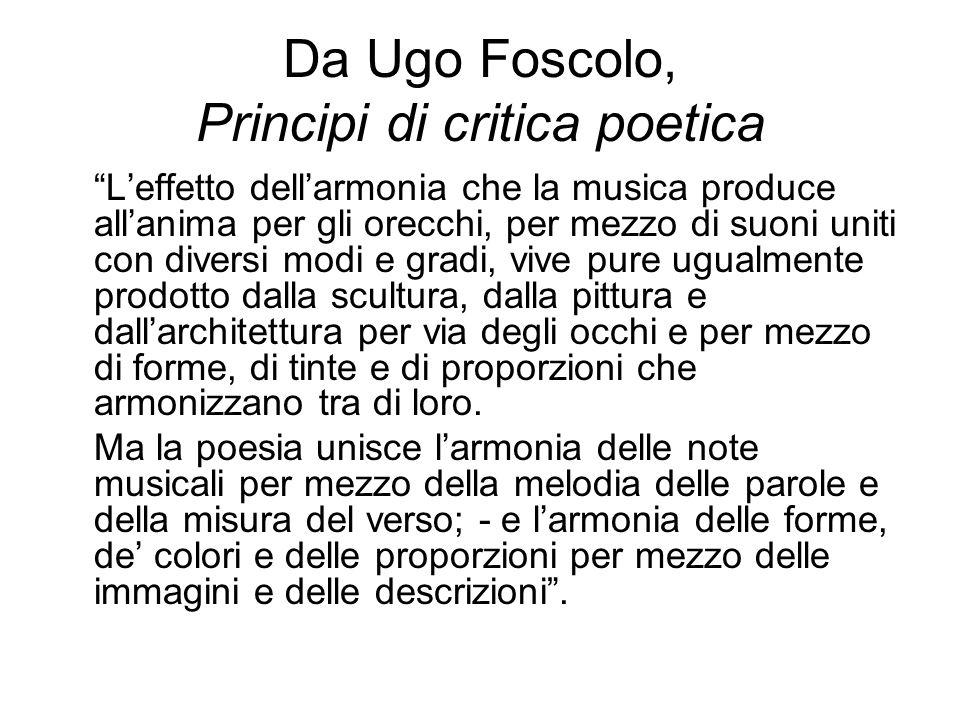 Da Ugo Foscolo, Principi di critica poetica