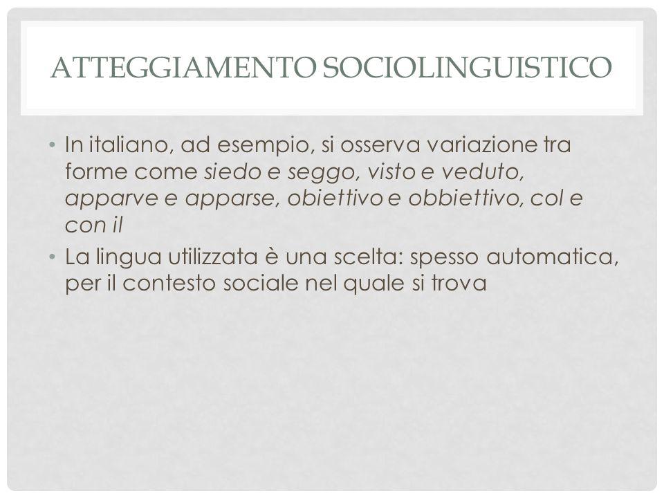 Atteggiamento sociolinguistico