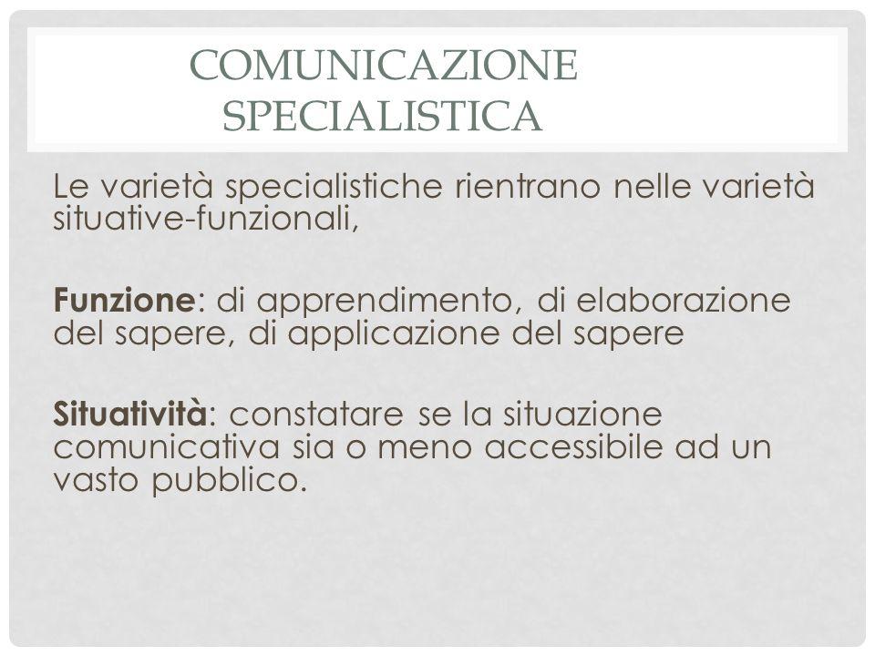 Comunicazione specialistica