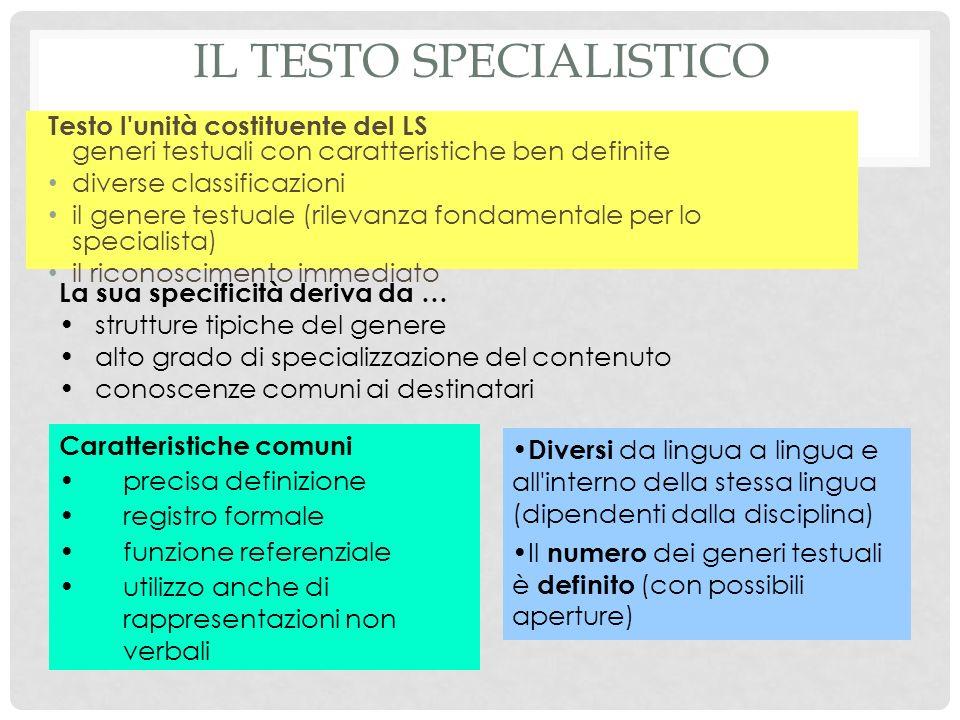 Il testo specialistico