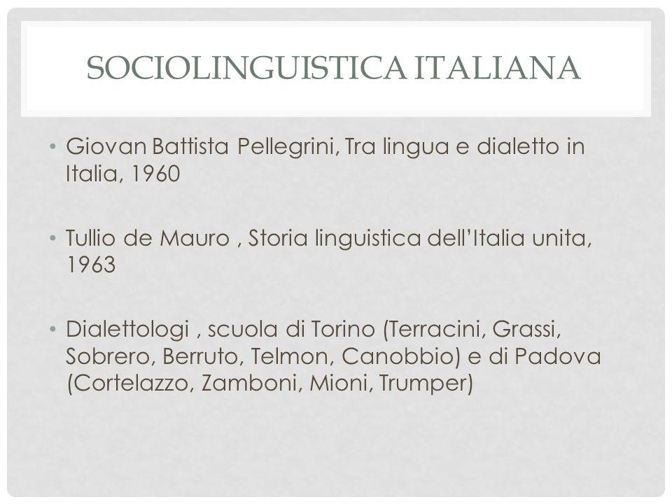 Sociolinguistica italiana
