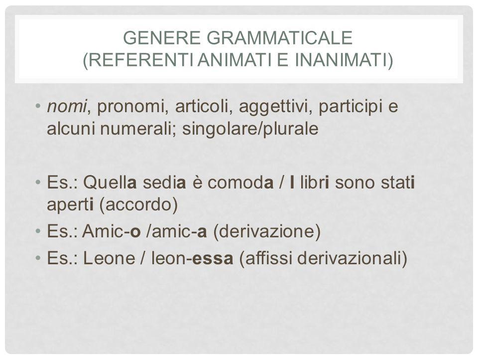 Genere grammaticale (referenti animati e inanimati)