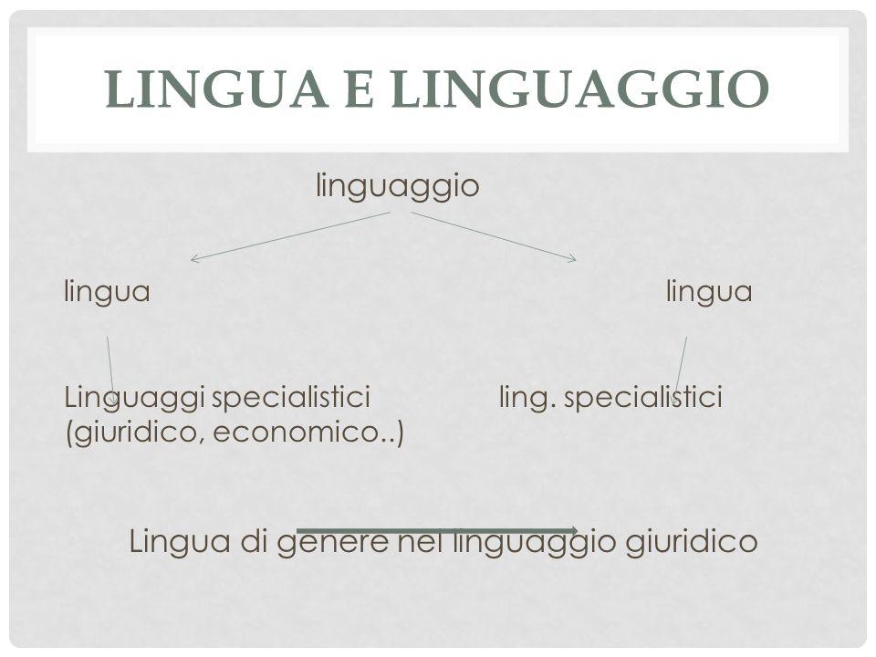 Lingua di genere nel linguaggio giuridico