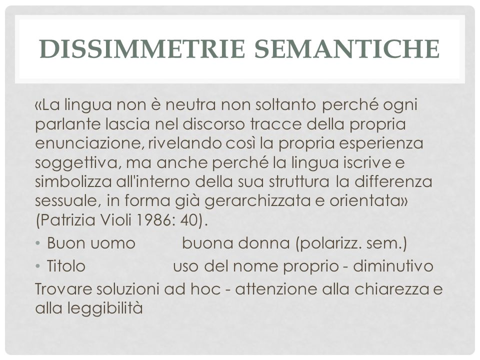 Dissimmetrie semantiche