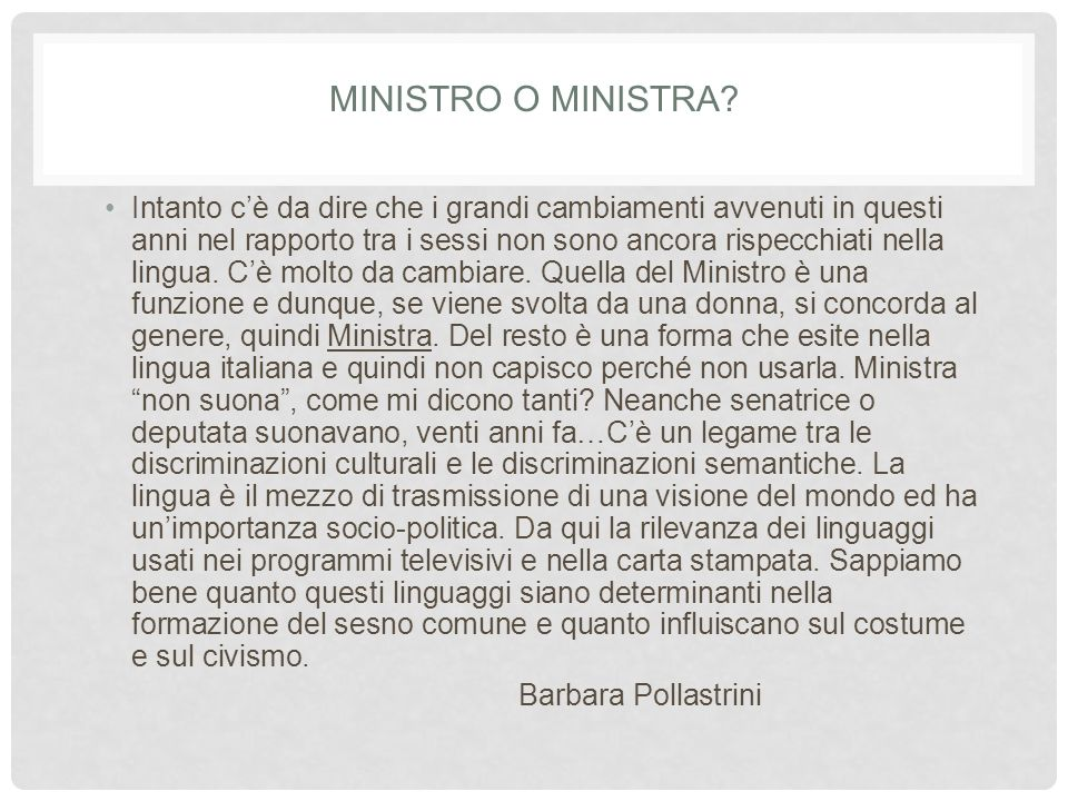 Ministro o ministra