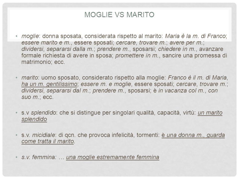 Moglie vs Marito