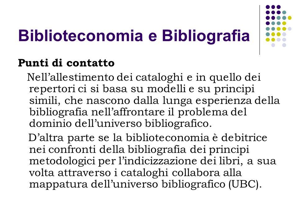 Biblioteconomia e Bibliografia