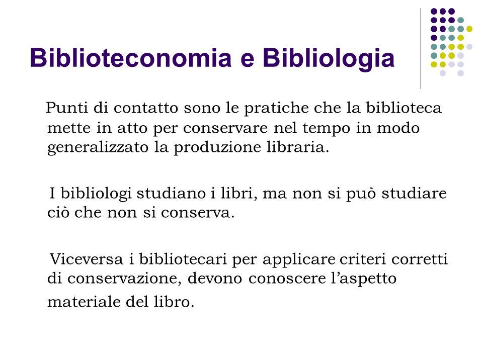 Biblioteconomia e Bibliologia