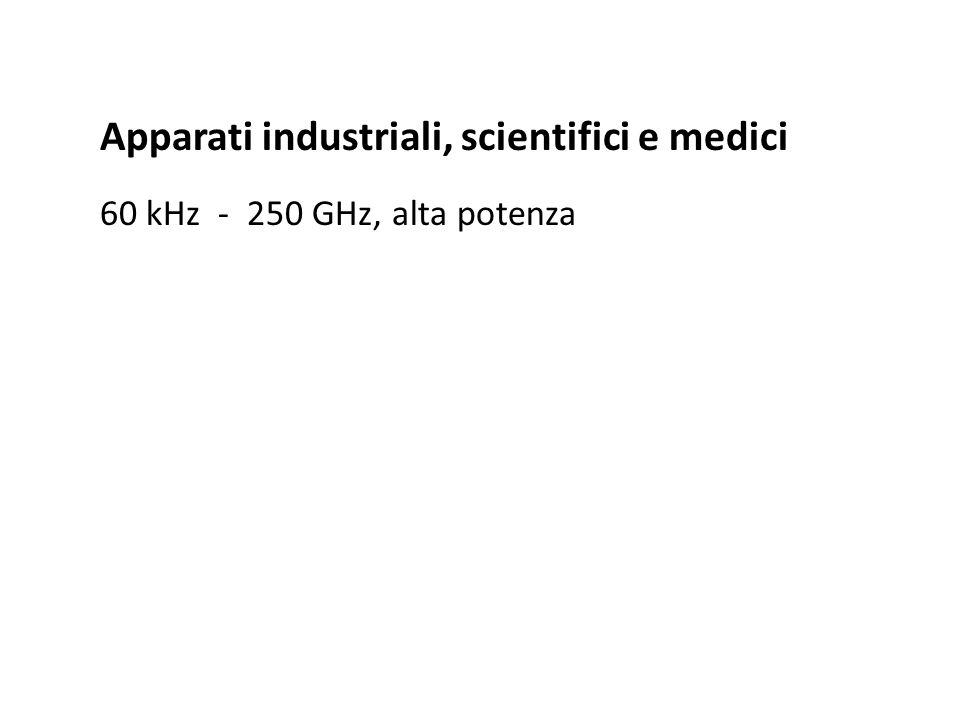 Apparati industriali, scientifici e medici