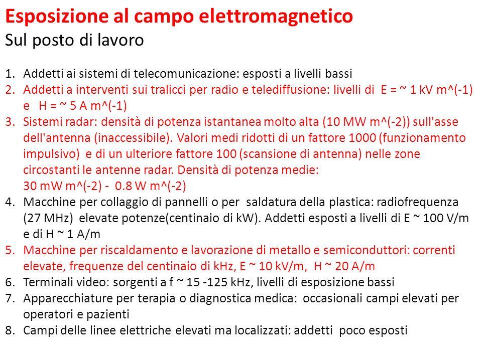 Esposizione al campo elettromagnetico