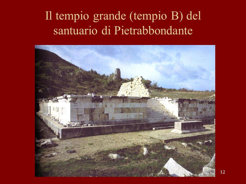 Il tempio grande (tempio B) del santuario di Pietrabbondante