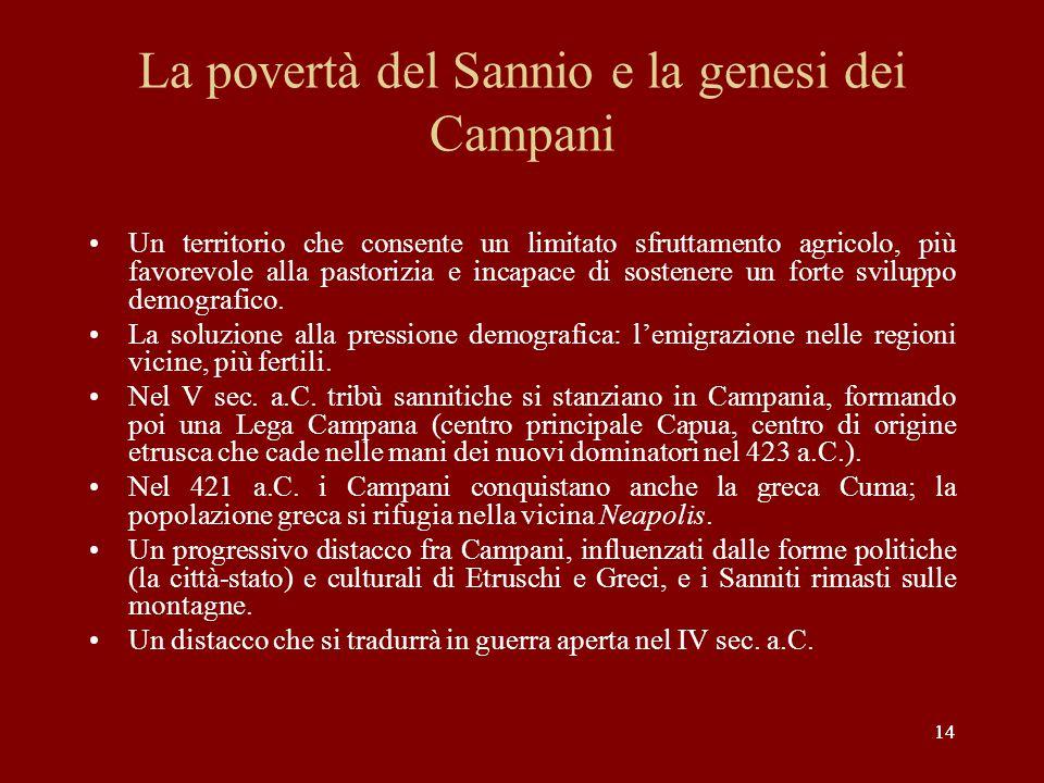 La povertà del Sannio e la genesi dei Campani