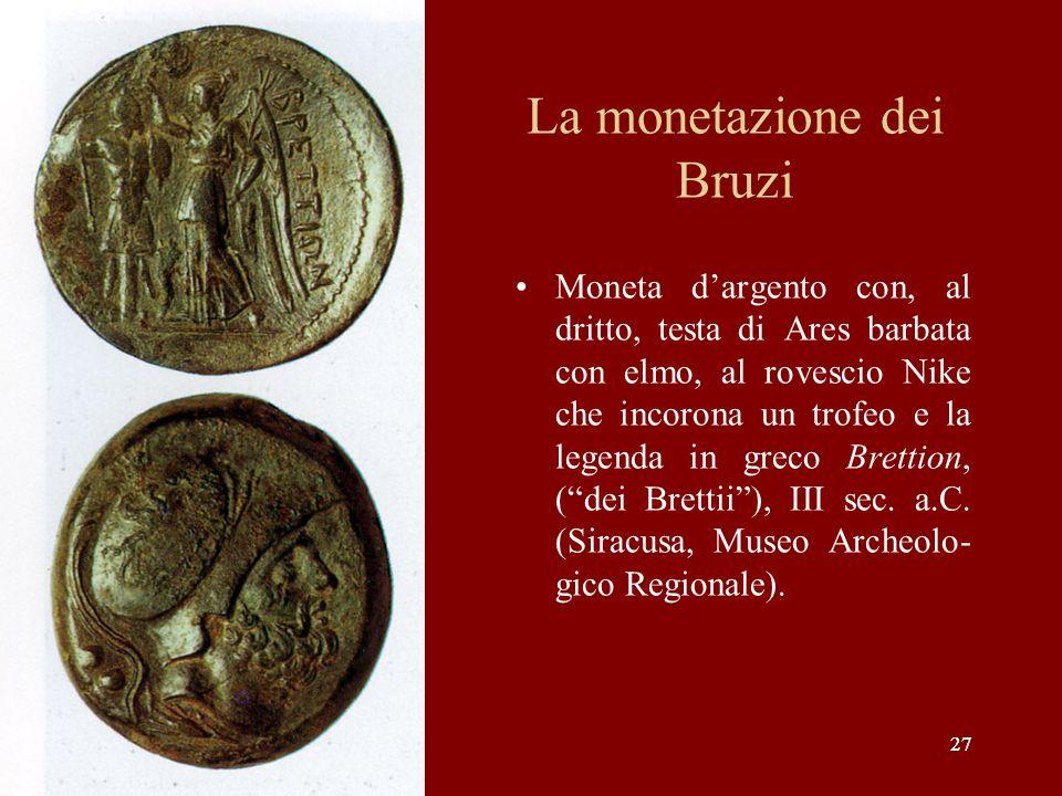 La monetazione dei Bruzi