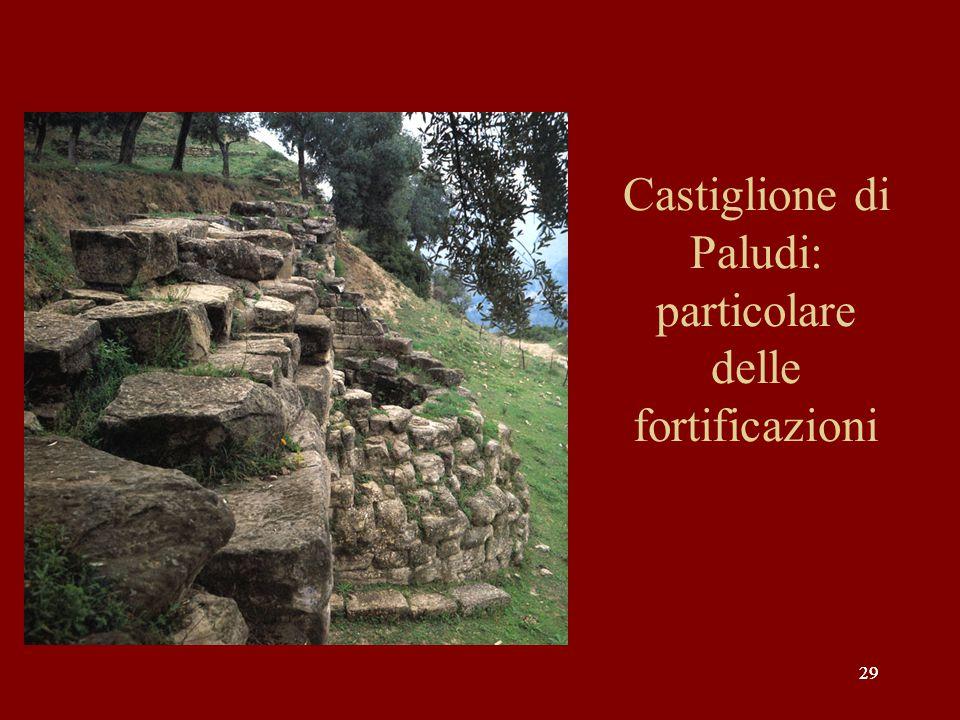 Castiglione di Paludi: particolare delle fortificazioni