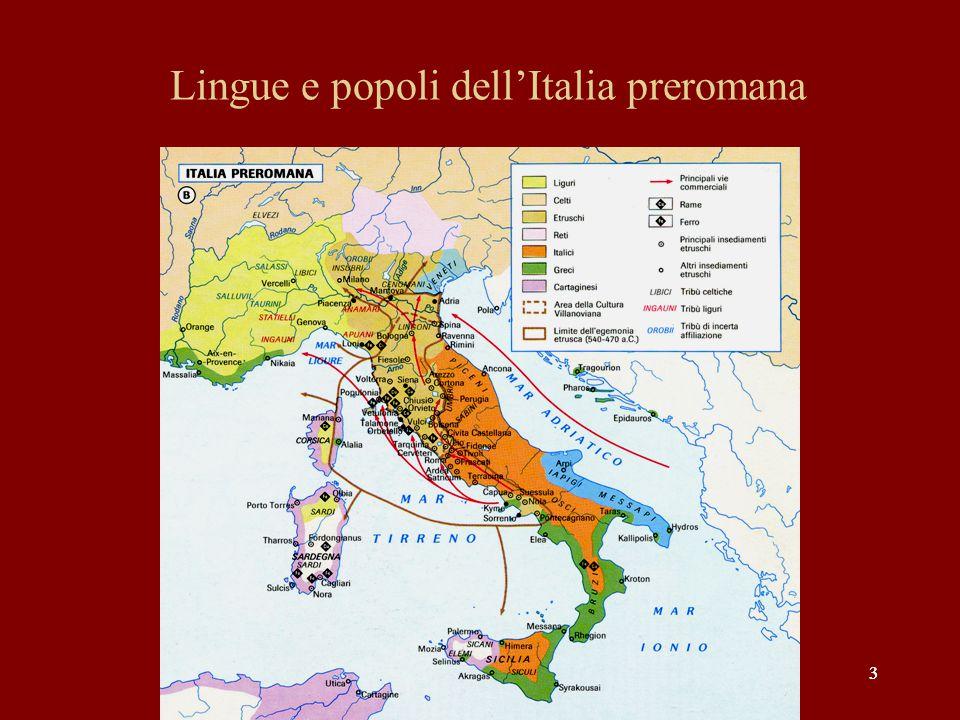 Lingue e popoli dell'Italia preromana