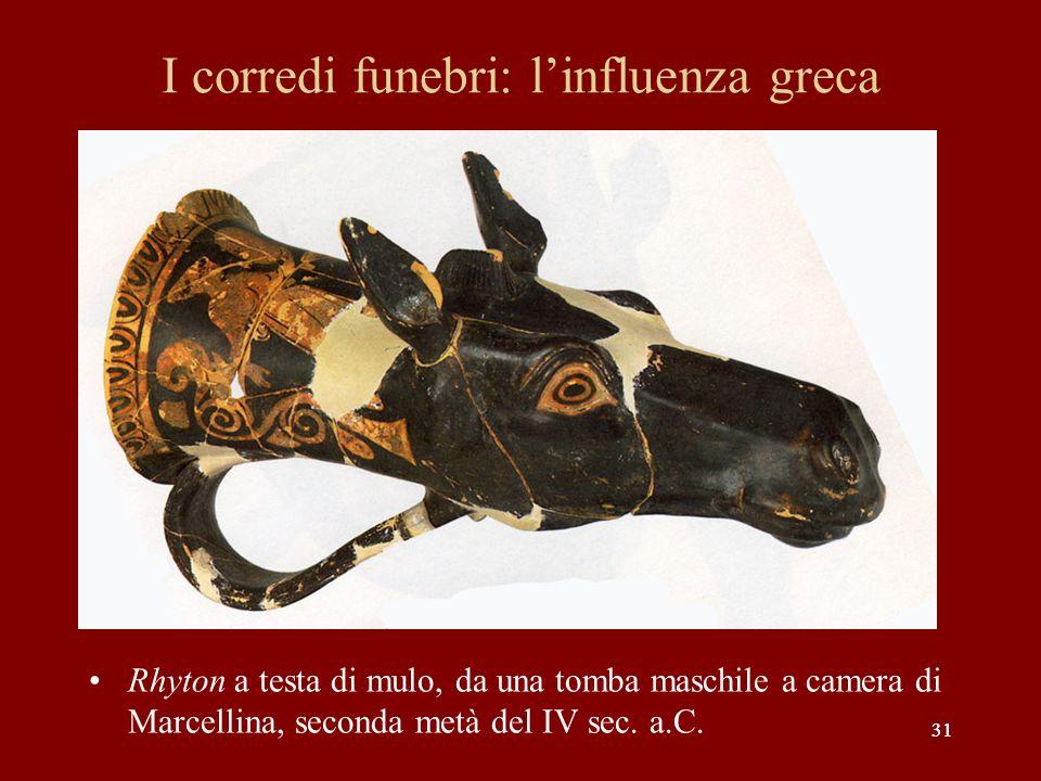 I corredi funebri: l'influenza greca