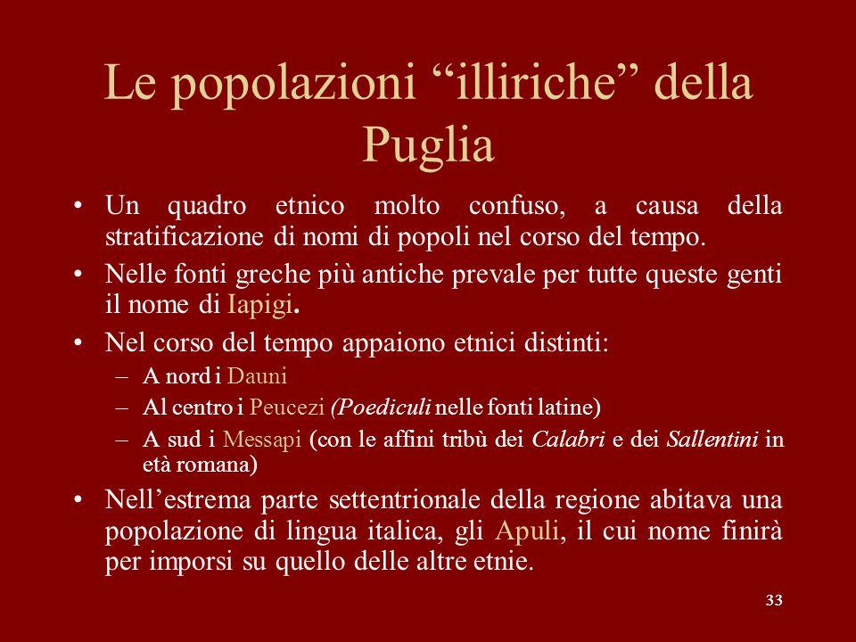 Le popolazioni illiriche della Puglia