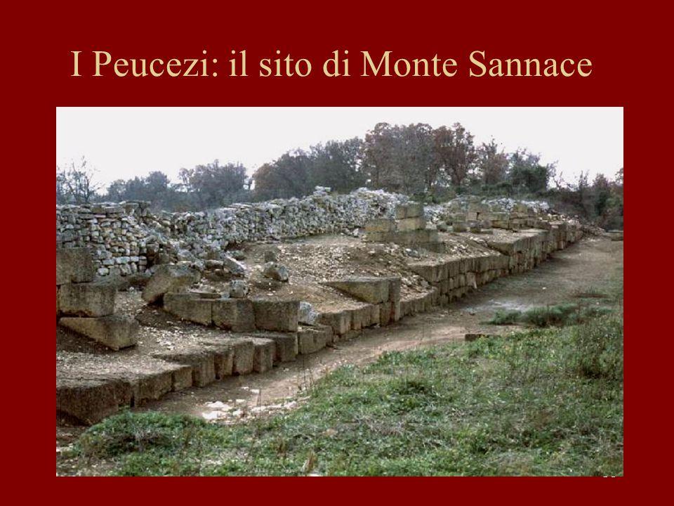 I Peucezi: il sito di Monte Sannace