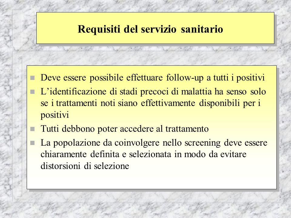 Requisiti del servizio sanitario