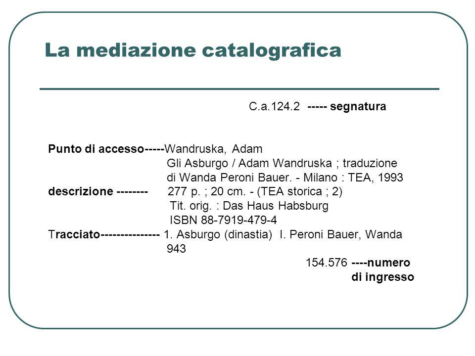 La mediazione catalografica