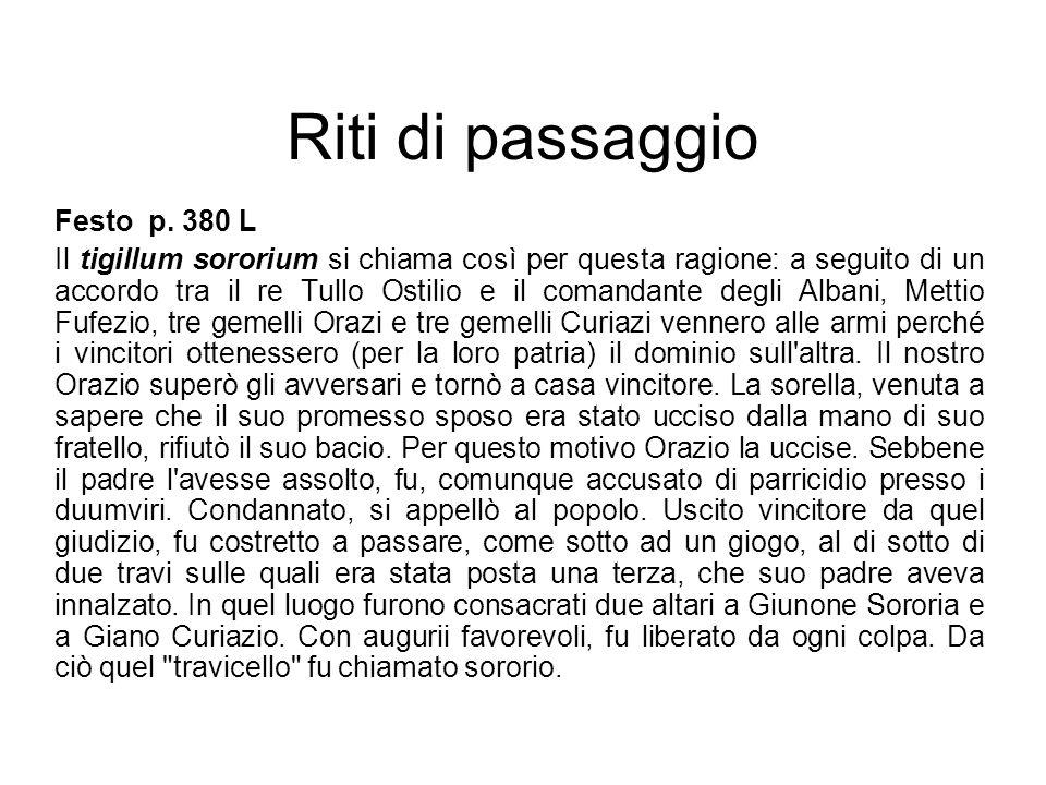 Riti di passaggio Festo p. 380 L