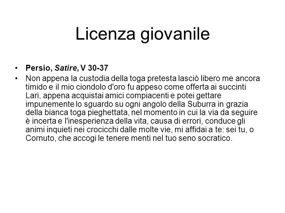 Licenza giovanile Persio, Satire, V 30-37
