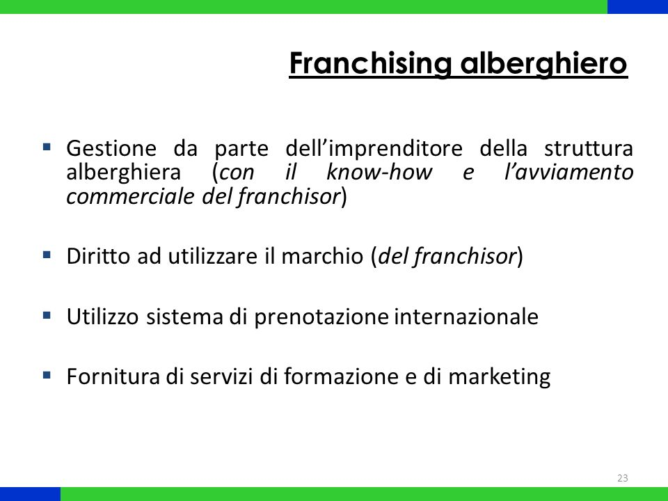 Franchising alberghiero