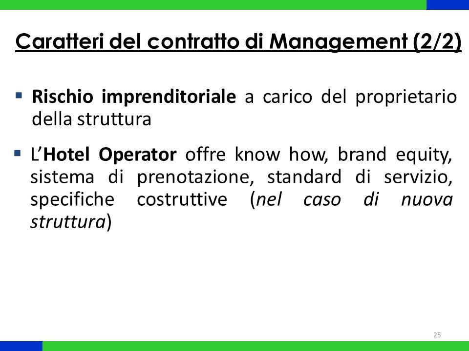 Caratteri del contratto di Management (2/2)
