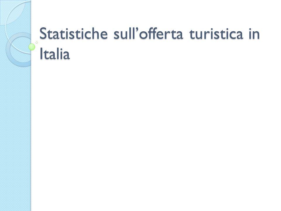 Statistiche sull'offerta turistica in Italia