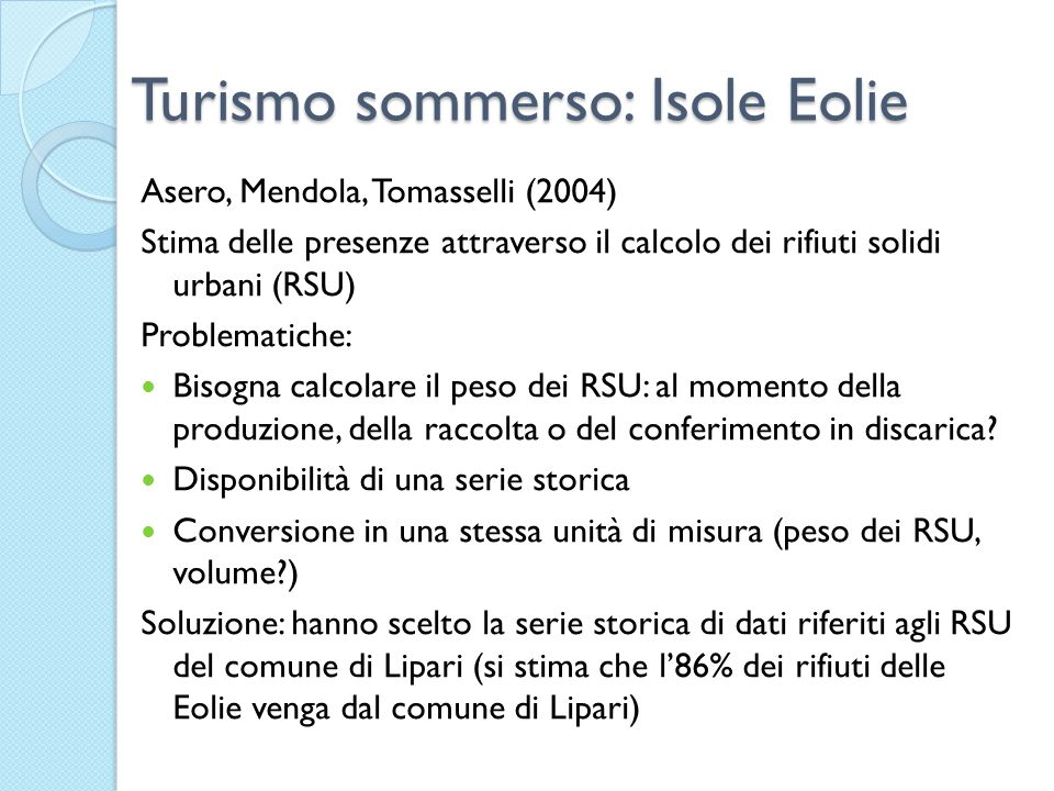Turismo sommerso: Isole Eolie