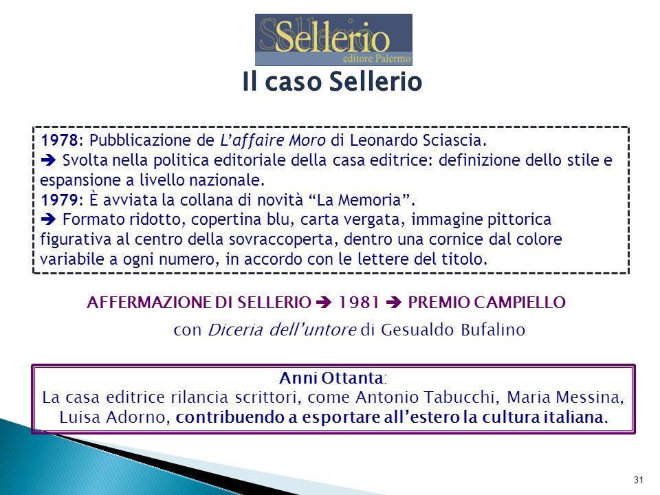 Il caso Sellerio1978: Pubblicazione de L'affaire Moro di Leonardo Sciascia.