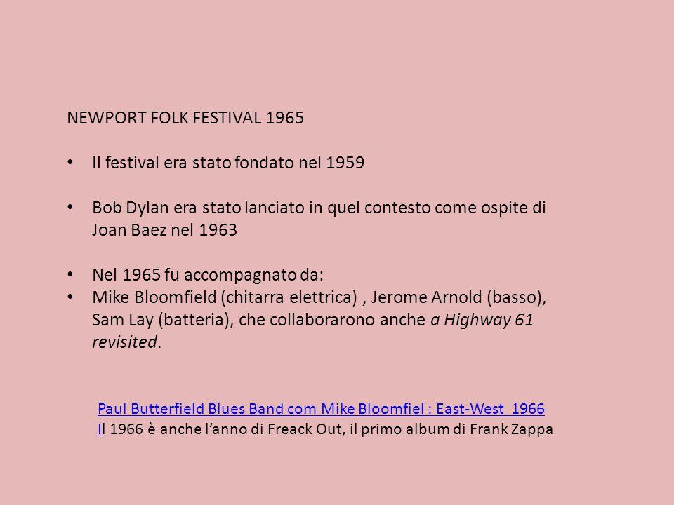 Il festival era stato fondato nel 1959