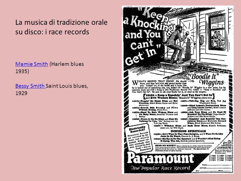 La musica di tradizione orale su disco: i race records