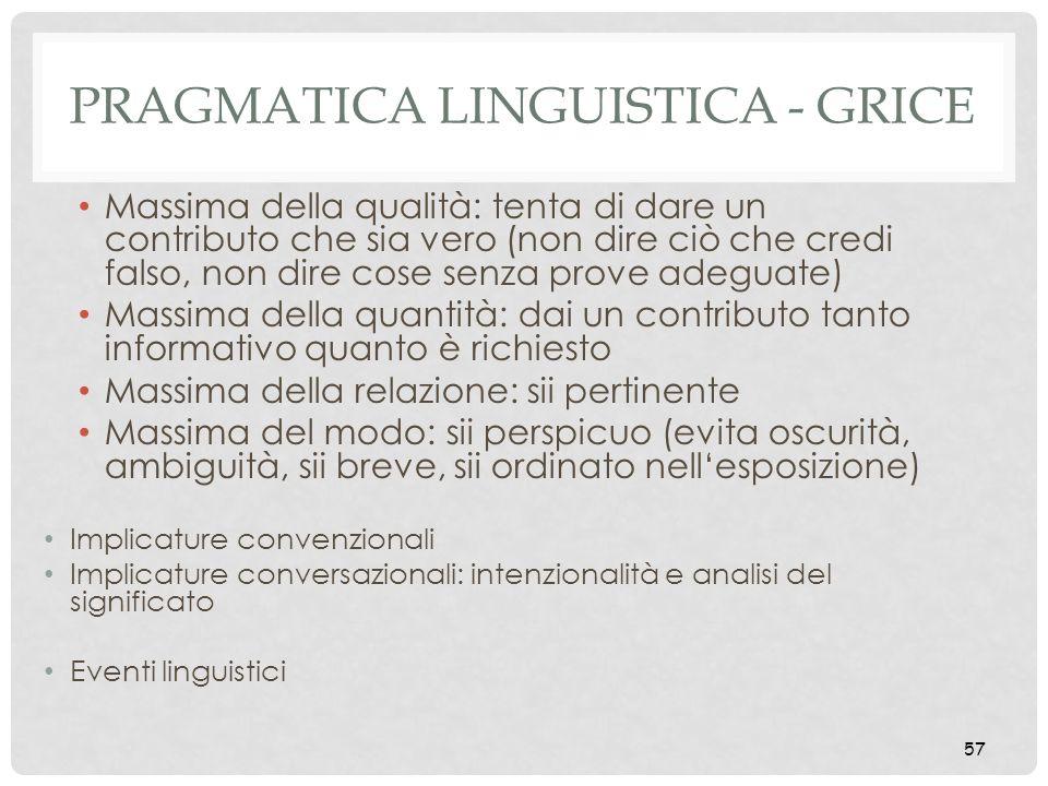 Pragmatica linguistica - Grice