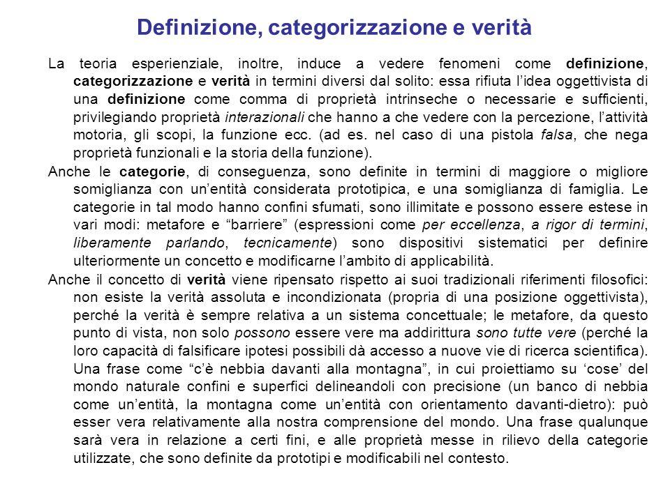 Definizione, categorizzazione e verità