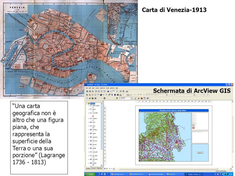 Carta di Venezia-1913 Schermata di ArcView GIS.