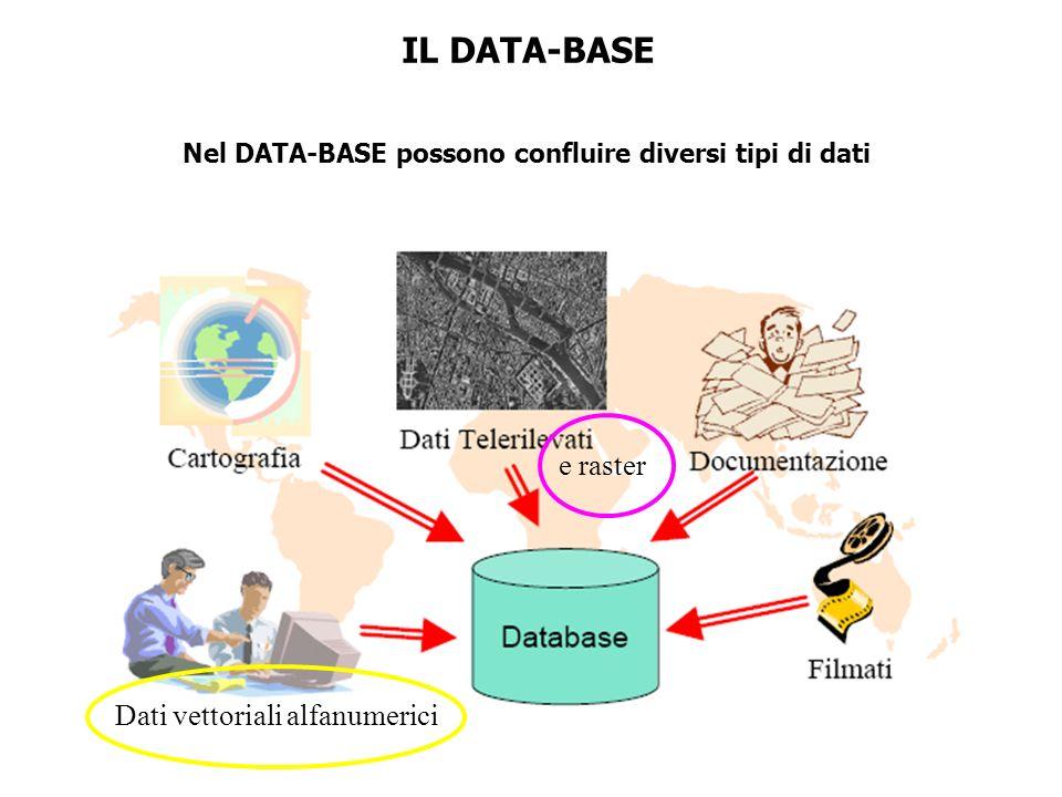 Nel DATA-BASE possono confluire diversi tipi di dati