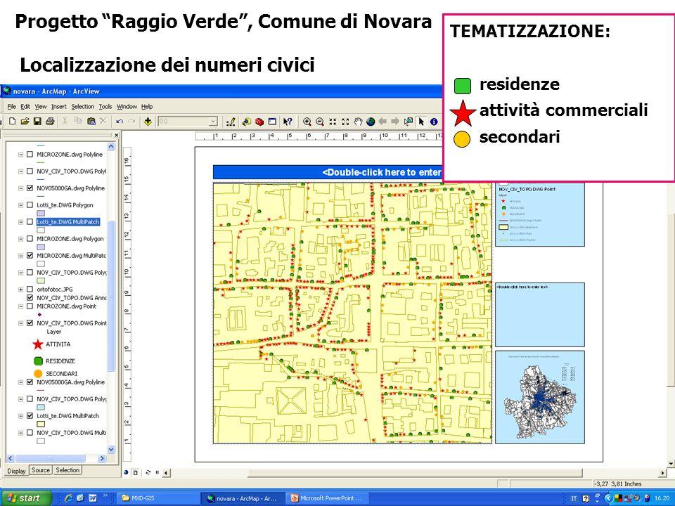 Progetto Raggio Verde , Comune di Novara