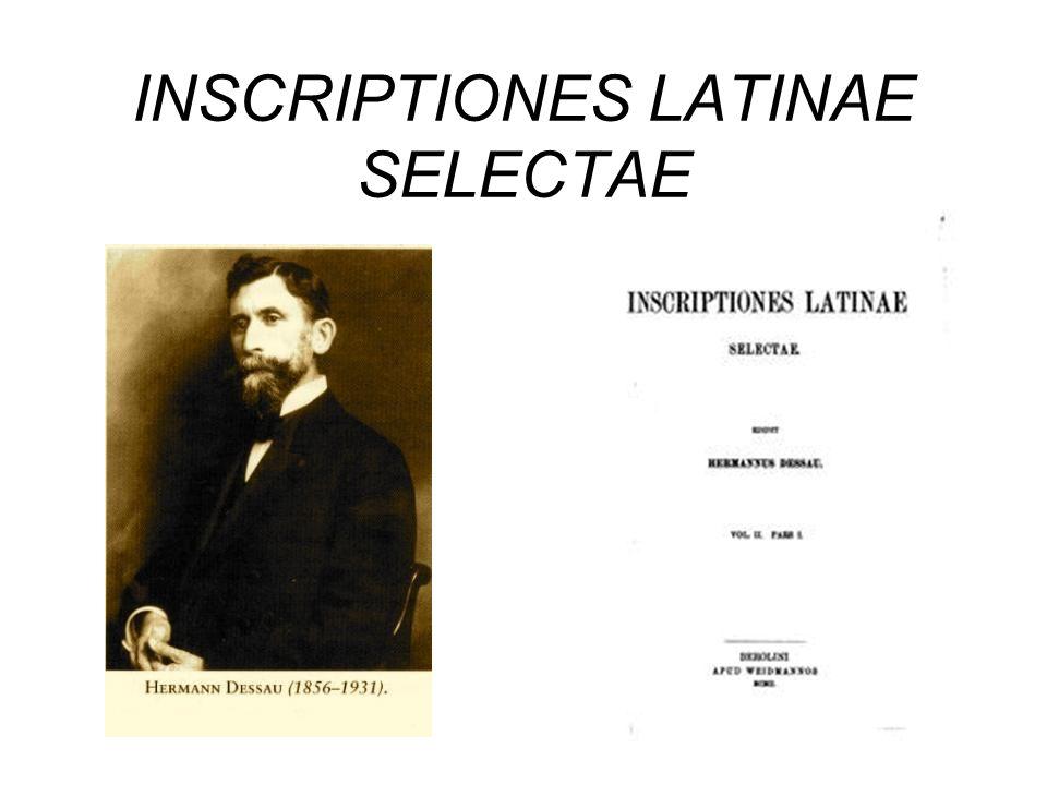 INSCRIPTIONES LATINAE SELECTAE