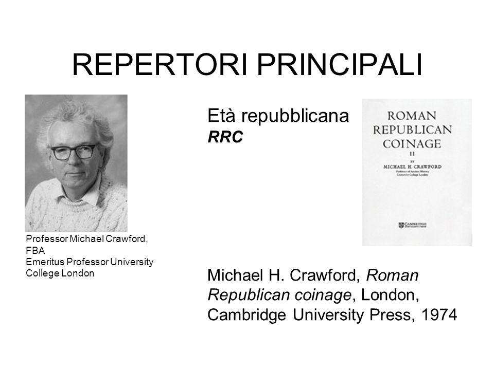 REPERTORI PRINCIPALI Età repubblicana RRC