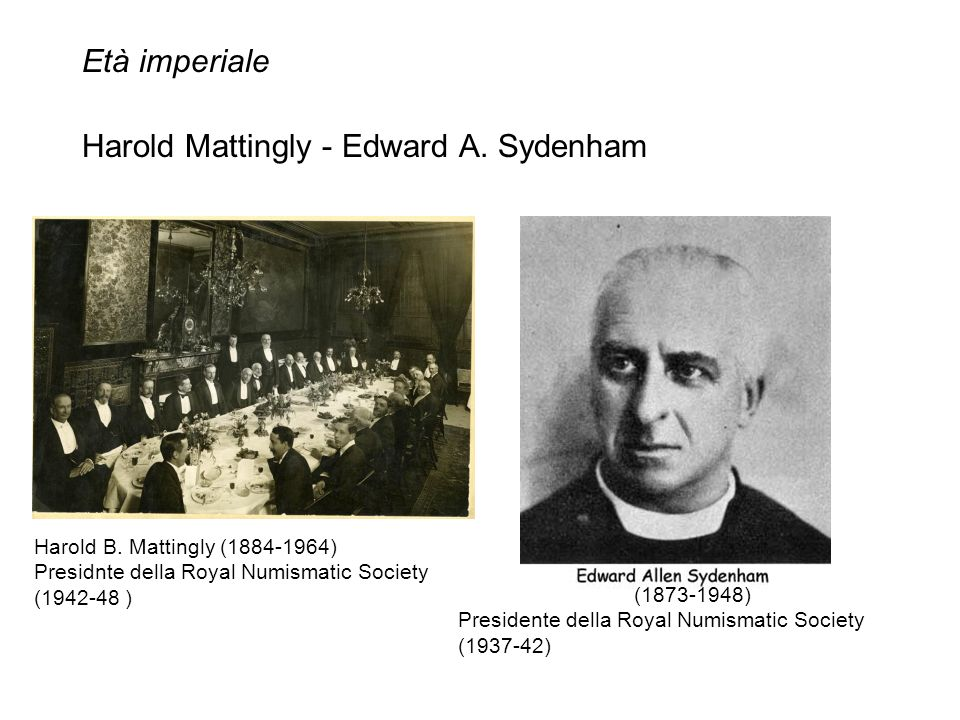 Harold Mattingly - Edward A. Sydenham