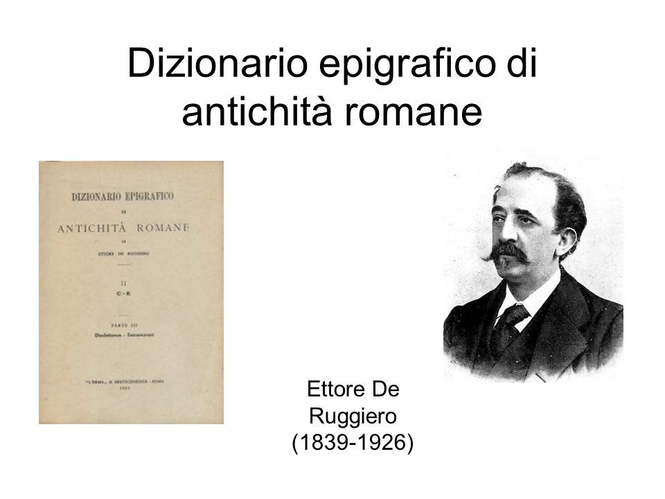 Dizionario epigrafico di antichità romane
