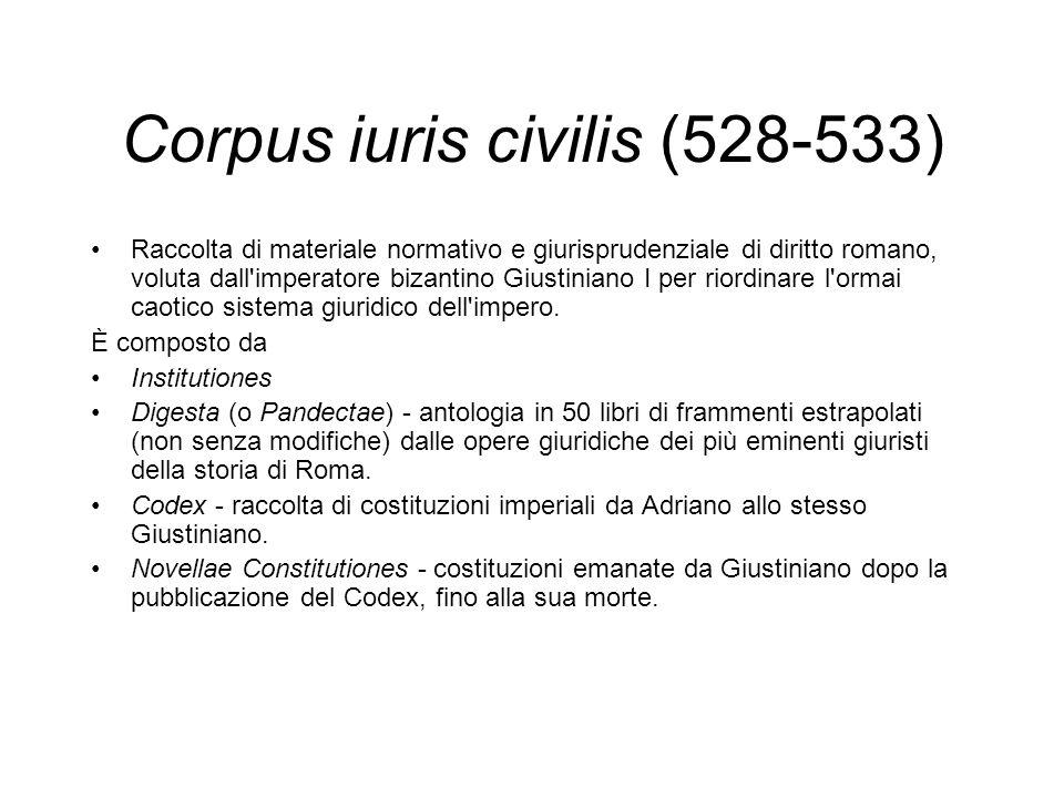 Corpus iuris civilis (528-533)