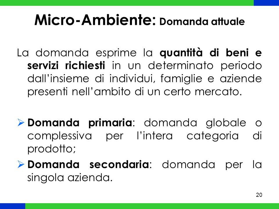 Micro-Ambiente: Domanda attuale