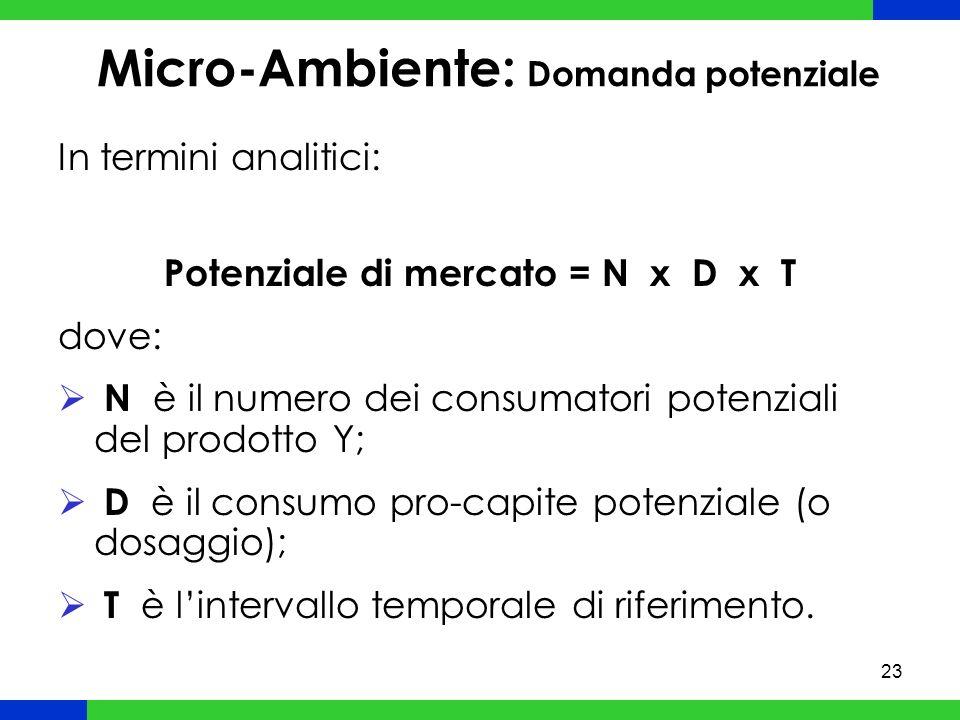 Micro-Ambiente: Domanda potenziale