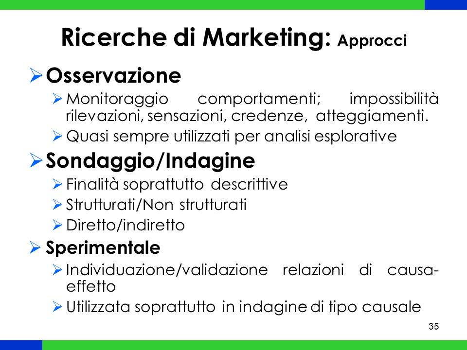 Ricerche di Marketing: Approcci