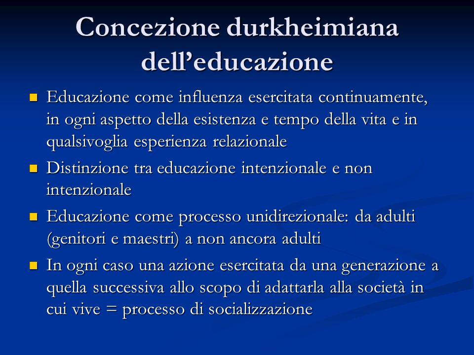 Concezione durkheimiana dell'educazione