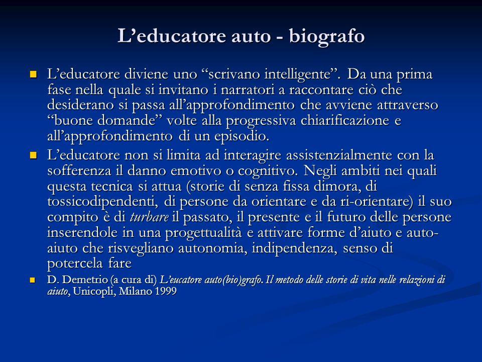 L'educatore auto - biografo